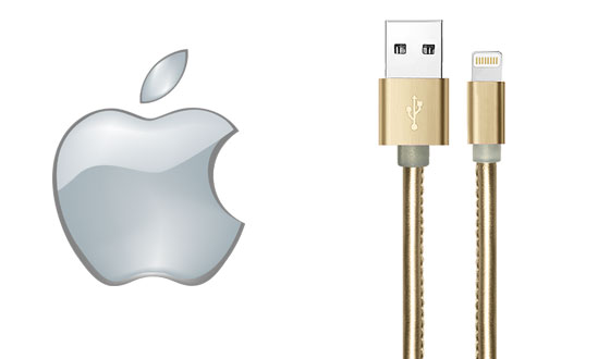 Cables USB de Apple cuero